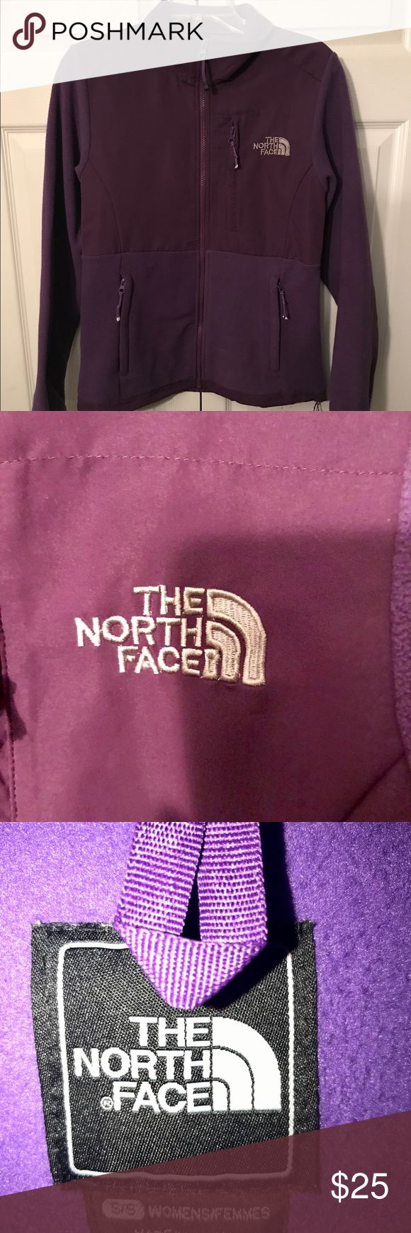 💜Women's size small The North Face jacket💜 Women's size small purple The North Face zip up fleece jacket. In excellent, like new condition and super warm for the cold weather! The North Face Tops Sweatshirts & Hoodies