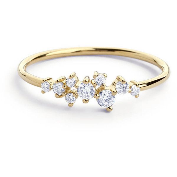 Christmas Sale Cluster Ring in 14k Gold Diamond Cluster Ring