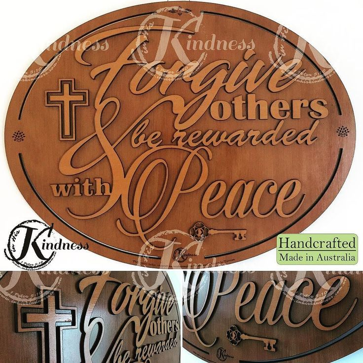 "New Inspirational Quote for the day: ""Forgive others & be rewarded with Peace"" --you are worth it! #inhiskindness #inspirational #quotes #forgiveness #lasercut #laserengraving #peace #woodworking #key #cross #unique #abundantlife #flourish #worthit #lifeistooshort #bethegood #handcrafted #madeinaustralia"