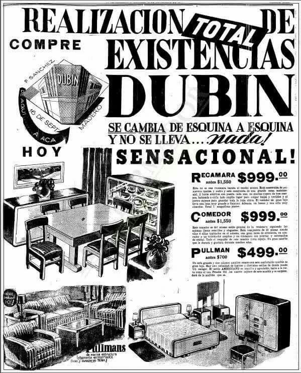 Anuncio en el periódico El Informador; 1944.