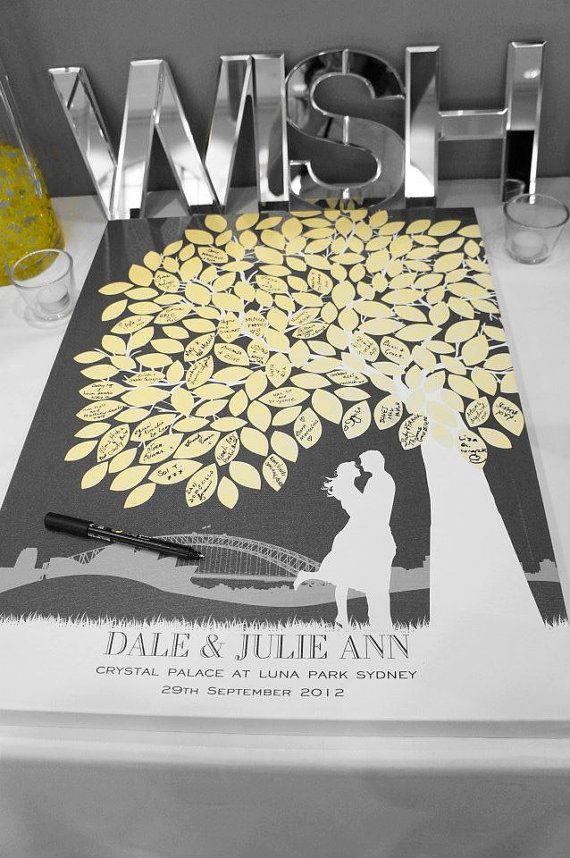 Wedding Guestbook Alternative Wedding Tree Custom von PaperRamma