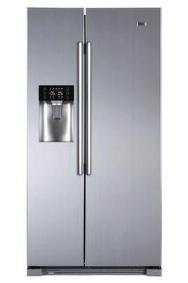 Haier HRF-628IF6, Réfrigérateur à froid ventilé 375 L , Congélateur Haier à froid ventilé (fini le dégivrage) 175 L, Volume total 550 L, Dimensions: 179 x 90,8 x 69 cm, Classe A+, distributeur : eau, glaçons, glace pilée, coloris Silver