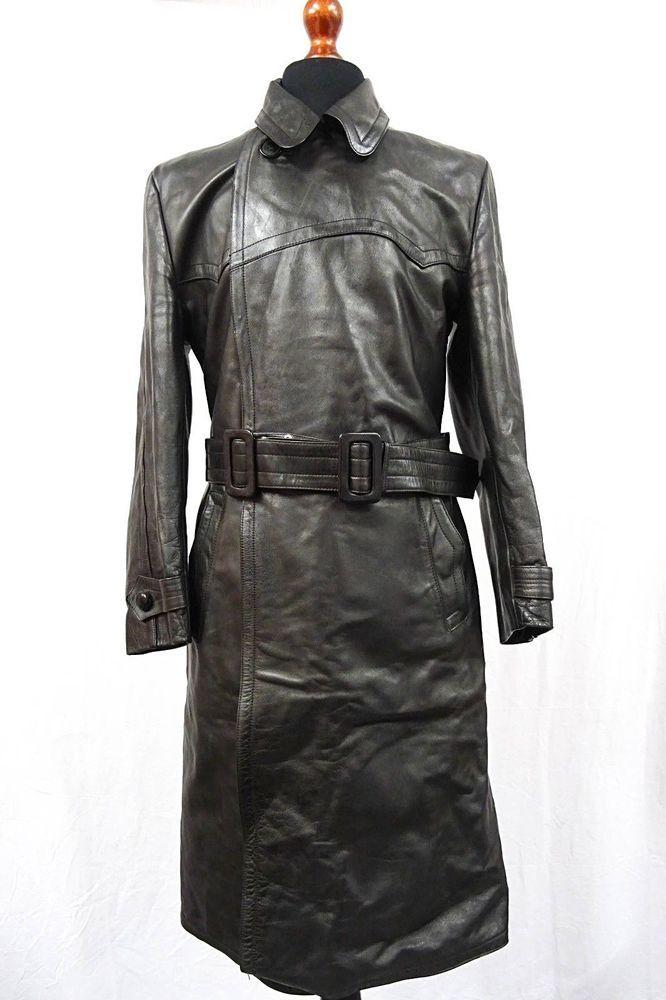 VINTAGE//BLK//METAL//IMMITATION-LEATHER BELT BUCKLE//Rain//Safari//Trench-Coat//Jacket