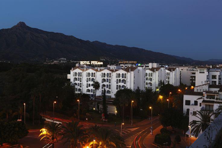 Hotel PYR Marbella nightview, Puerto Banus, Marbella, Andalucia, Spain