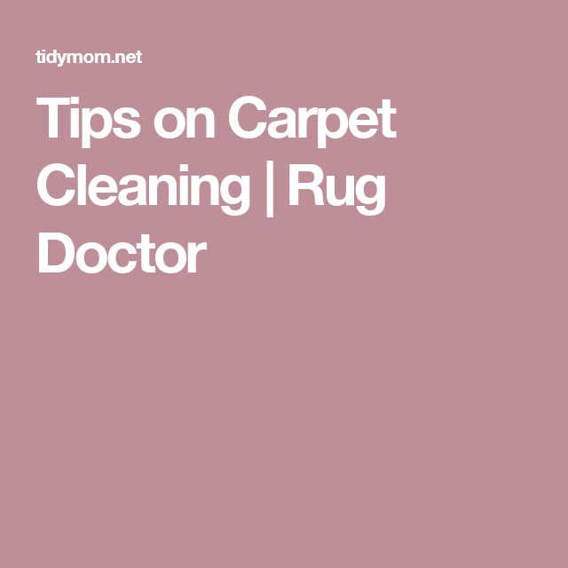 Rug Doctor Service And Repair. Tips On Carpet Cleaning