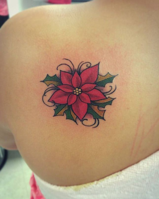 poinsetta tattoo
