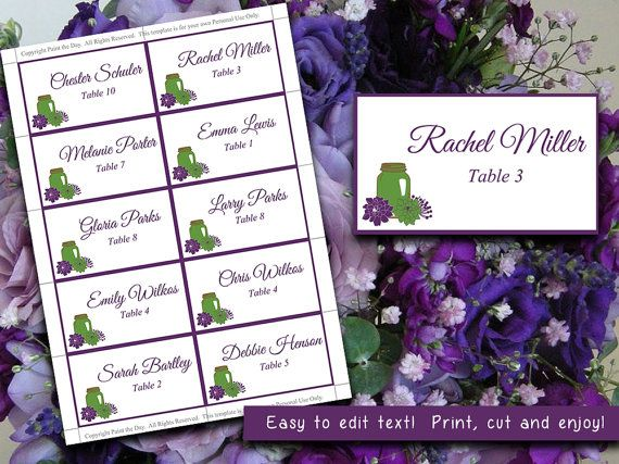 The 25+ best Place card template word ideas on Pinterest Free - card templates for word