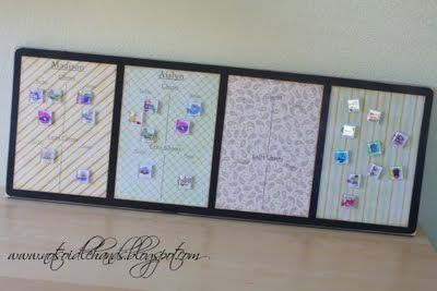Magnetic Chore Chart - DIY! - Design Dazzle