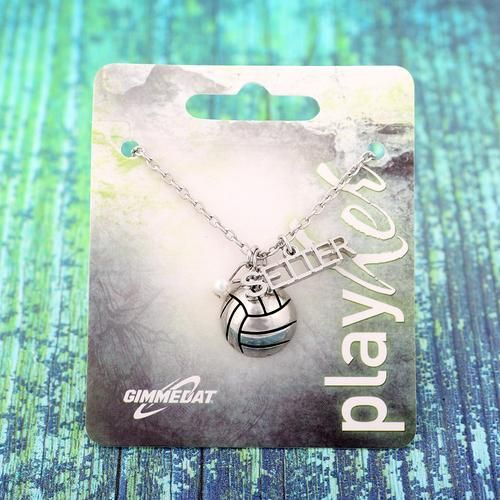 Customizable! Volleyball Setter Silver Necklace