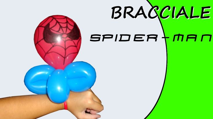 Video tutorial on how to make a spiderman bracelet with balloons twisting #spiderman #bracelet