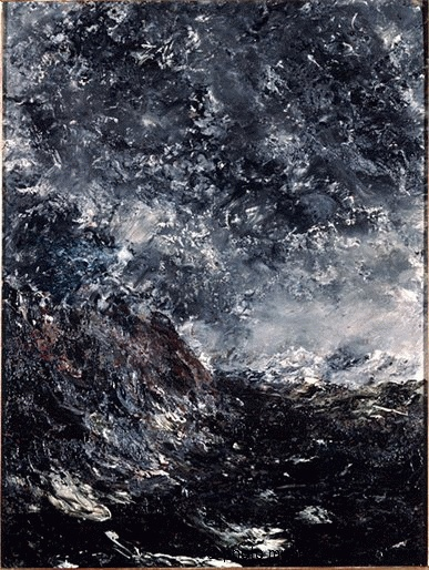 Strindberg, August (1849-1912) - 1894 Marine Reef (Musee d'Orsay, Paris, France)    Oil on cardboard; 39.9 x 30 cm.    Johan August Strindberg was a Swedish playwright, novelist, poet, essayist and painter
