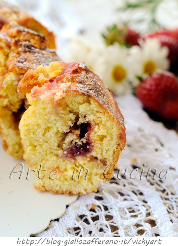 Ciambellone di frolla alle fragole crema e marmellata vickyart arte in cucina