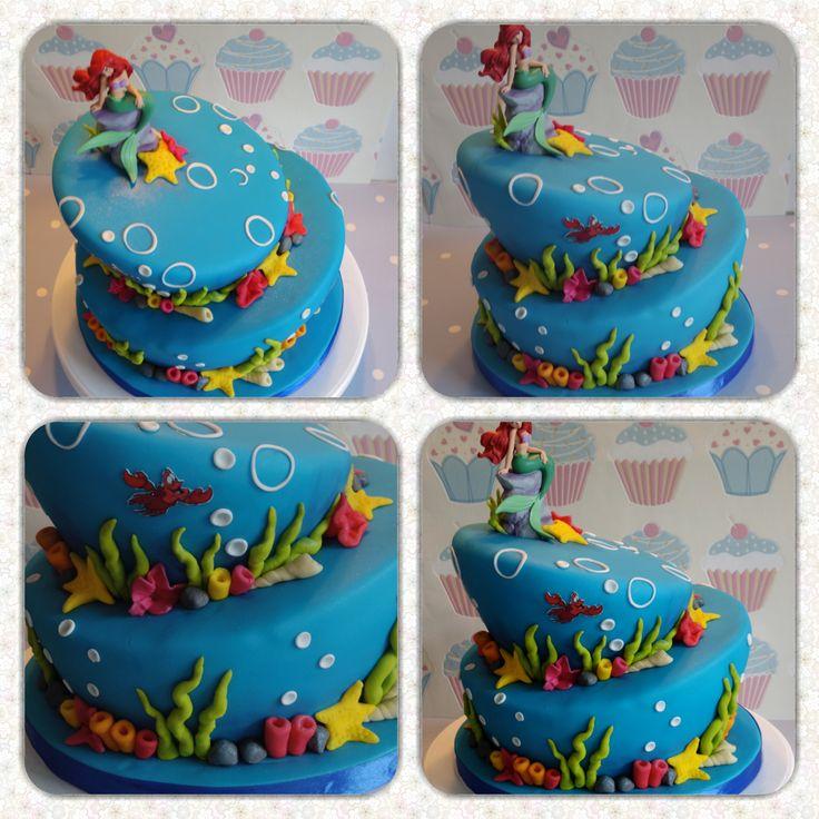 Little Mermaid Cake topsy turvy