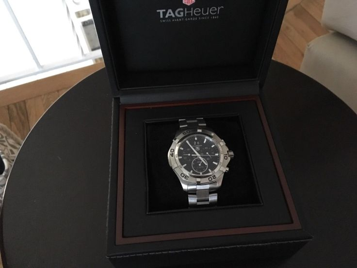TAG Heuer Aquaracer Automatic Chronograph Caf 101E. black face pre owne