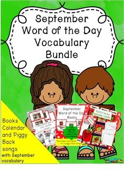 """""""Love this! Love the integration of vocabulary and music into a daily calendar activity. Very clever!"""" was said about Our Word of the Day calendar that has 30 September-back to school vocabulary words, journal sheet and interactive student calendars. Our Word of the Day ELA books are a fantastic back to school tool for ESOL and special needs students as they contain real photos, and sentences that begin with the subject.The sentences in each book correlate with the lyrics in the books.$"""