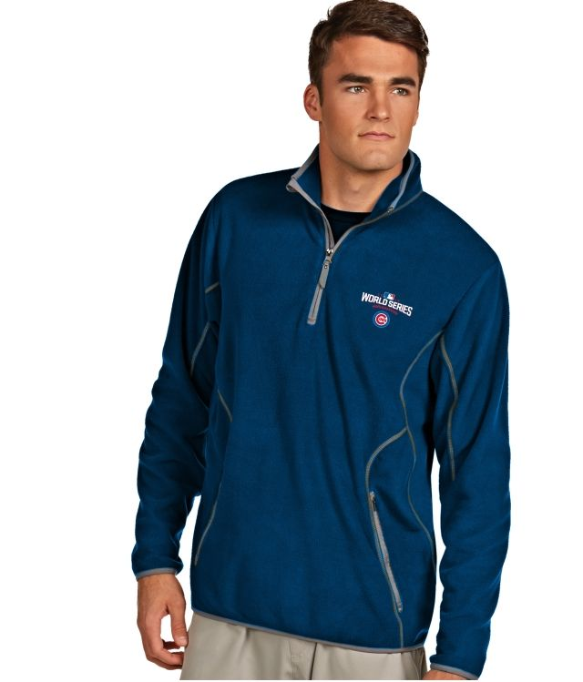 Antigua Men's 2016 World Series Chicago Cubs Royal Ice Pullover