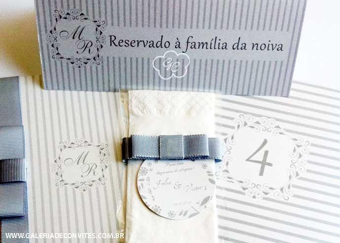 Identidade casamento formada por menu personalizado, lágrimas de alegria, cartão de reserva de mesa, numeração de mesa e convite de casamento. Modelo 86