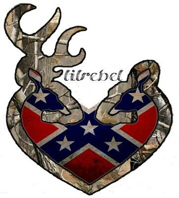 browning heart rebel flag