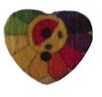 Happy Sun Heart Buttons