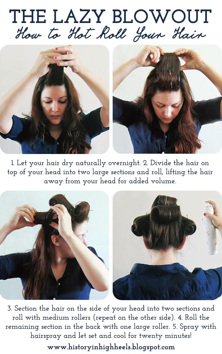 The Lazy Blowout: How to Hot Roll Your Hair - History In High Heels                                                                                                                                                                                 More