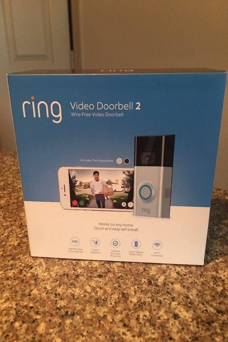 BRAND NEW Satin Nickel Ring Video Doorbell 2 Wire-Free Video Doorbell