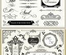 2 Sets of classic vector vintage decorative Christmas ornaments and patterns with floral frames, calligraphic embellishments, corners, flourish borders, etc. for your Christmas embellishment, cards, brochures, etc. Format: EPS, Ai stock vector clip art and illustrations. Free for download. Set…