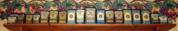 VTG Antique Collection Lot of 22 Monarch Tea Cocoa Tins Containers Lion Green #Monarch