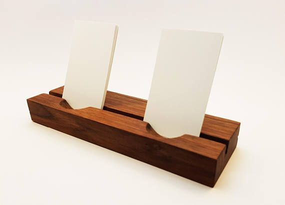 Double Contact card holder.Wood Business Card Holder. Multiple