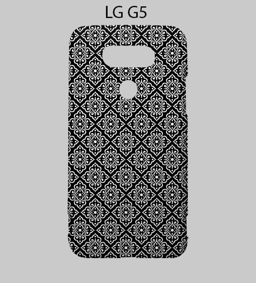 Black Damask LG G5 Case Cover