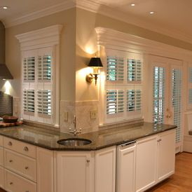 Kitchen Windows And Doors Look Fantastic All Done With Shutters! Http://www