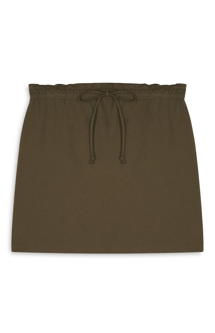 Primark - Khaki Gathered Jersey Skirt