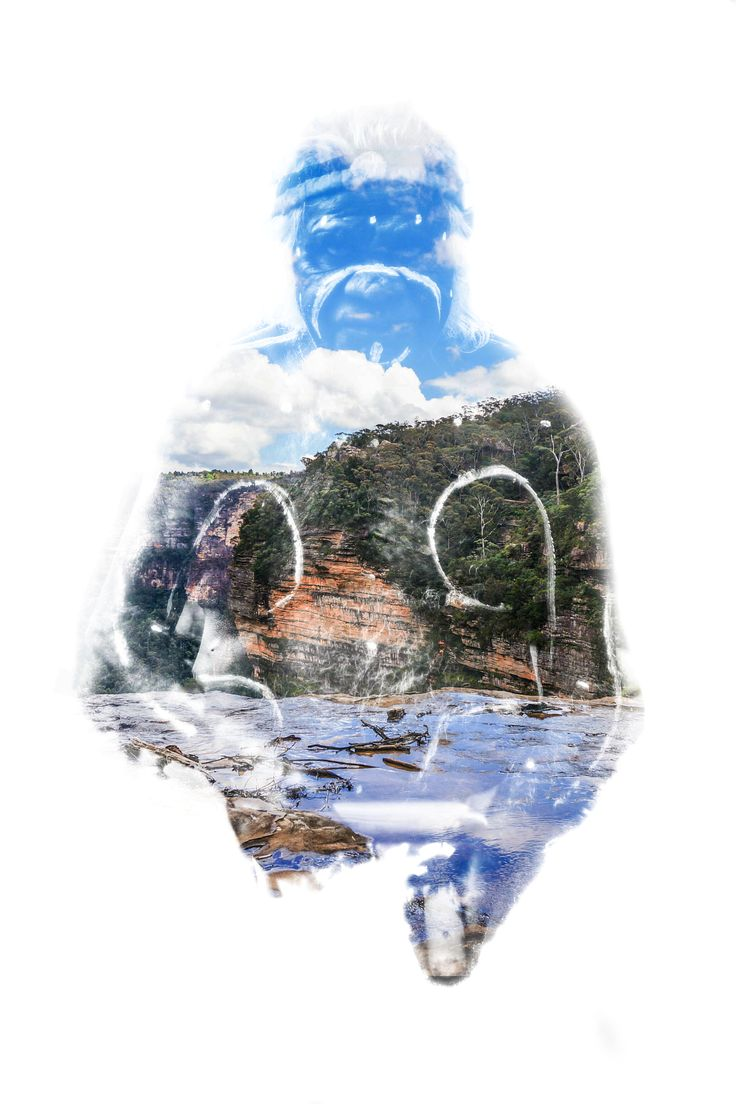 An Aboriginal & the Blue Mountains. My first attempt at a double exposure today. Combined a couple of shots from my Australia travels. www.levickphotography.com