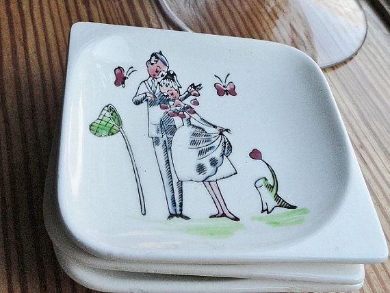 Vintage Wedding White Appetizer Dishes Bride by rustbelttreasures, $10.00