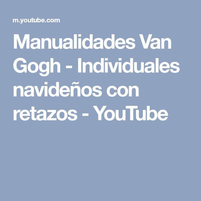 Manualidades Van Gogh - Individuales navideños con retazos - YouTube