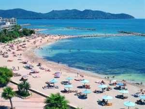 beautiful cala bona beach right outside hotel levante - staying here next week!