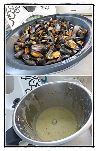 Moules sauce poulette version avec Thermomix