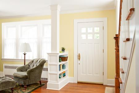 How To Build A Columned Room Divider Entry Ways Front