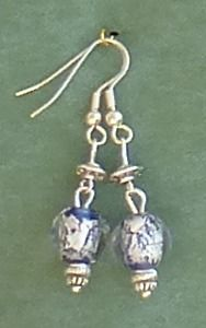 Silver and Blue  Bead £5.99