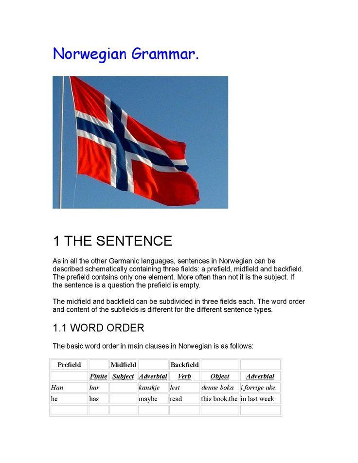 Advanced Norwegian Grammar