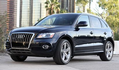 A three-quarter front view of a 2011 Audi Q5 S Line $50000