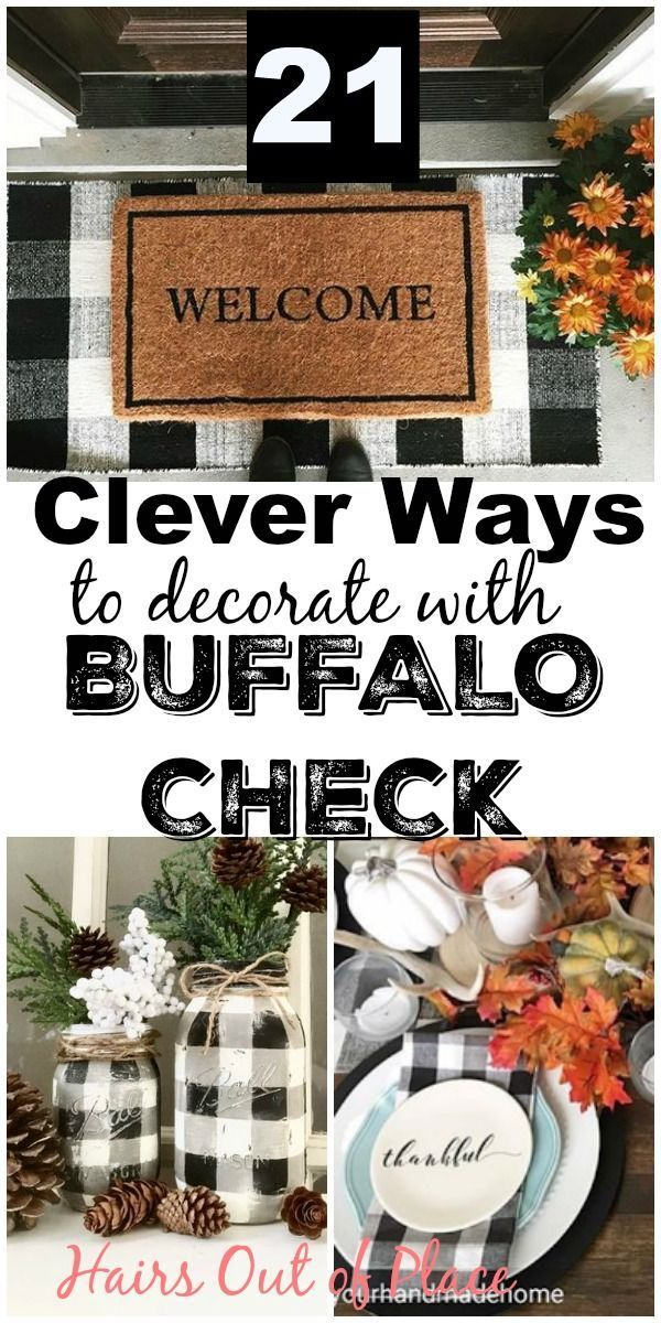 Buffalo Check Decor Ideas For Christmas Fall And Year Round Decorating Buffalo Check Christmas Decor Buffalo Plaid Decor Country House Decor