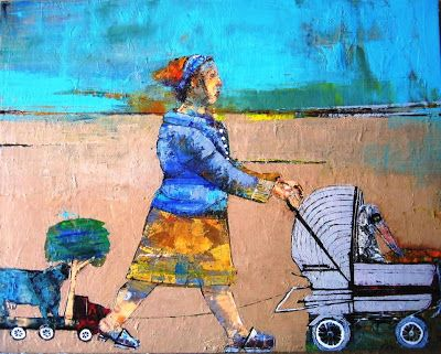 figuration feminine, femmes artistes peintres women artists painters : Valerie Jayat (1961)