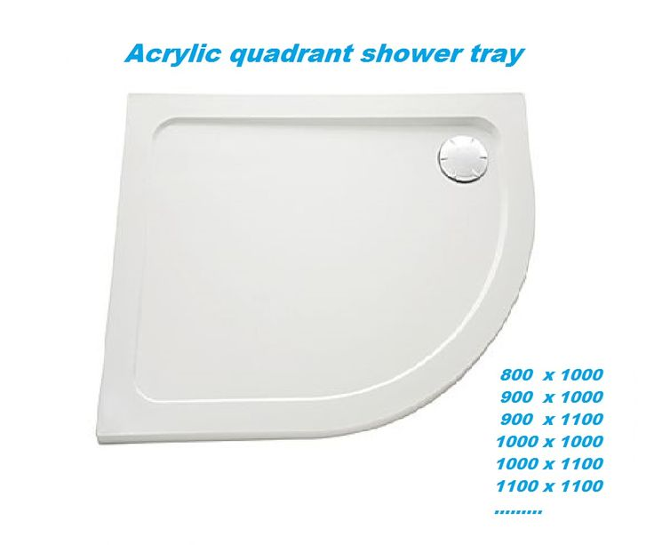 Acrylic Quadrant Shower Tray: Shower Trays play a vital role in the bathroom, draining away waste water efficiently and protecting your bathroom floor. Our #showertrays are well-designed, manufactured from high grade materials. We stock shower trays in all shapes and sizes to fit with your chosen shower enclosure. #acrylicquadrantshowertray