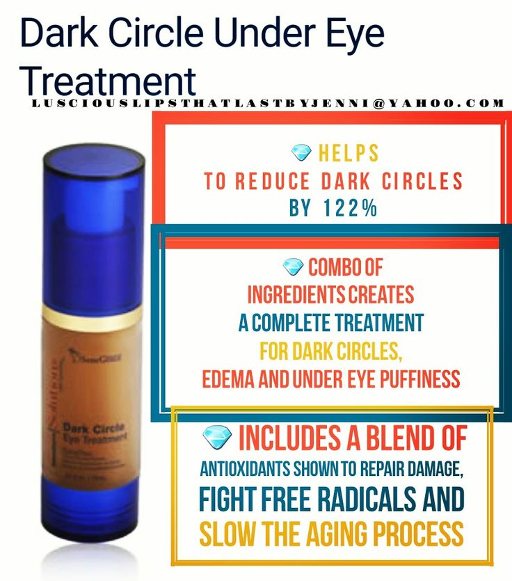 Dark Circle Under Eye Treatment   Are you sick of your dark circles and puffy eyes? I can help you! This treatment is amazing! Message me! Lusciouslipsthatlastbyjenni@yahoo.com