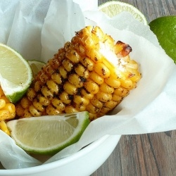Grilled corn with spices and lime (in French): Maï Grillé, Aux Épice, De Maï, Grillé Aux, Maï Frai, Lea S Secrets, Green Lemon, Lea Secret, Vegetarian Recipes