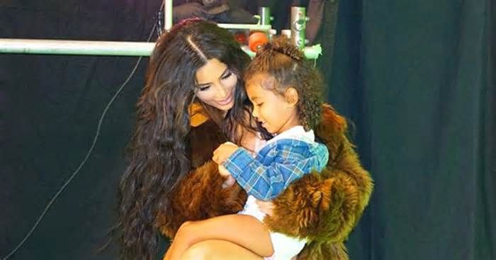 Kim Kardashian Grins at North in Sweet Behind-the-Scenes Pics from 'Love' Advent Calendar Shoot #kardashian #grins #north #sweet #behind…