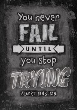 You Never Fail Until… Inspire U Poster by Creative Teaching Press. NEW Inspirational posters
