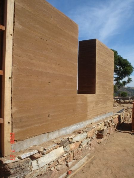 Taipa de Pilão - Casa Cunha - Primeira parede
