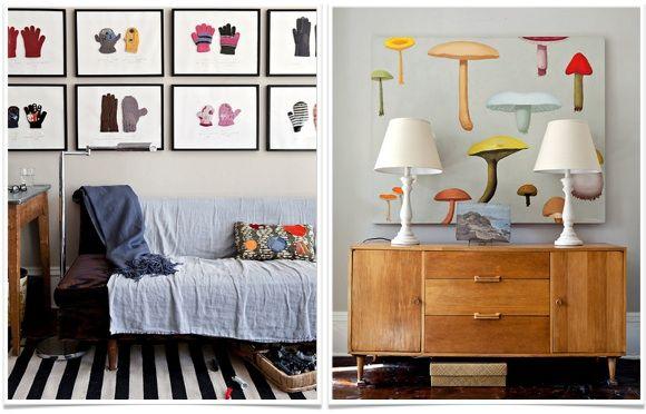 delish mushroom painting and framed lost mittens: Frames Lost, Delish Mushrooms, Mushrooms Painting, Lost Mittens, Decor Inspiration, Artsy Fartsy