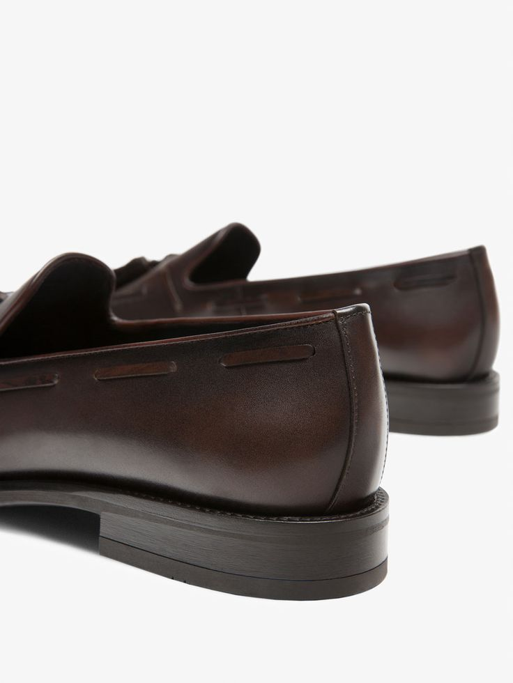 ZAPATO MOCASIN VESTIR PIEL MARRON de HOMBRE - Zapatos de Massimo Dutti de Primavera Verano 2017 por 89.95. ¡Elegancia natural!